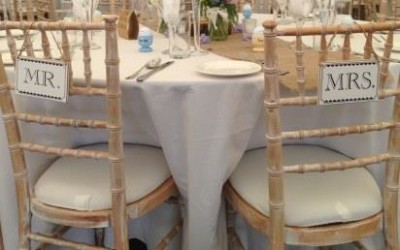 Wedding chairs Bournemouth, Dorset, Hants and Wilts